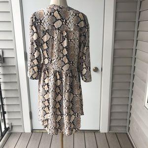 Anthropologie Dresses - Maeve Anthropologie Juno Snakeskin Dress Rare